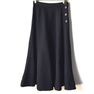 Aritzia Wilfred Black Midi Elise Skirt 00